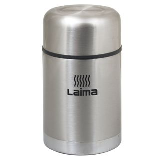 Vacuum flask LIMA universal with wide mouth, 0.8 l, stainless steel