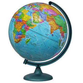 Political relief globe with a diameter of 320 mm