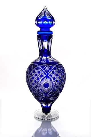 "Crystal decanter ""Evenings"" blue 3.5 l"