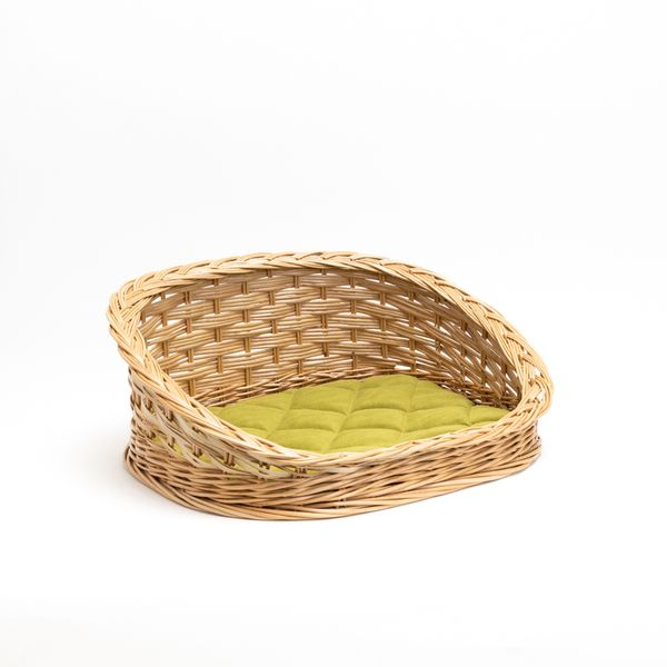 Azimuth / Lezhak Oval with a back for cats and small breeds of dogs No. 3, light green, 600x480 mm
