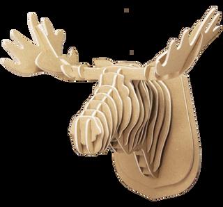 3D shape – a moose Head, KVK Brown