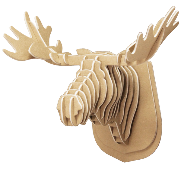 3D shape – a moose Head, KVK Brown