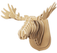 3D shape – a moose Head, KVK Brown - view 1