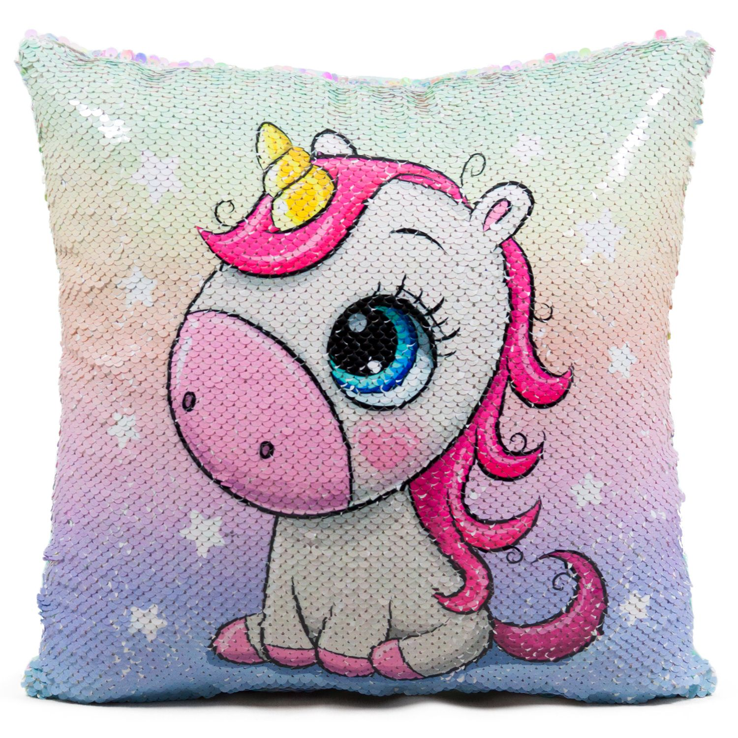 "Pillow ""Unicorn"" sequins"