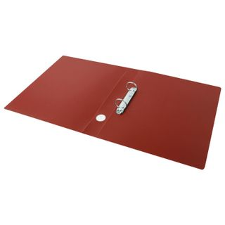Folder on the 2 rings STAFF, 40mm, red, up to 300 sheets, 0.5 mm