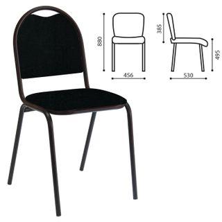 RS00L visitor chair, black frame, leather black