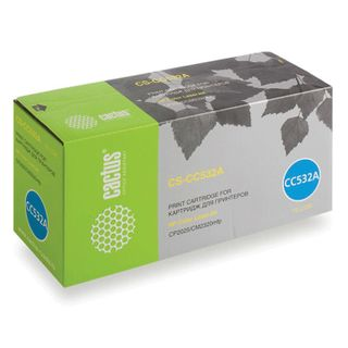 Toner cartridge CACTUS (CS-CC532A) for HP ColorLaserJet CP2025 / CM2320, yellow, yield 2800 pages.