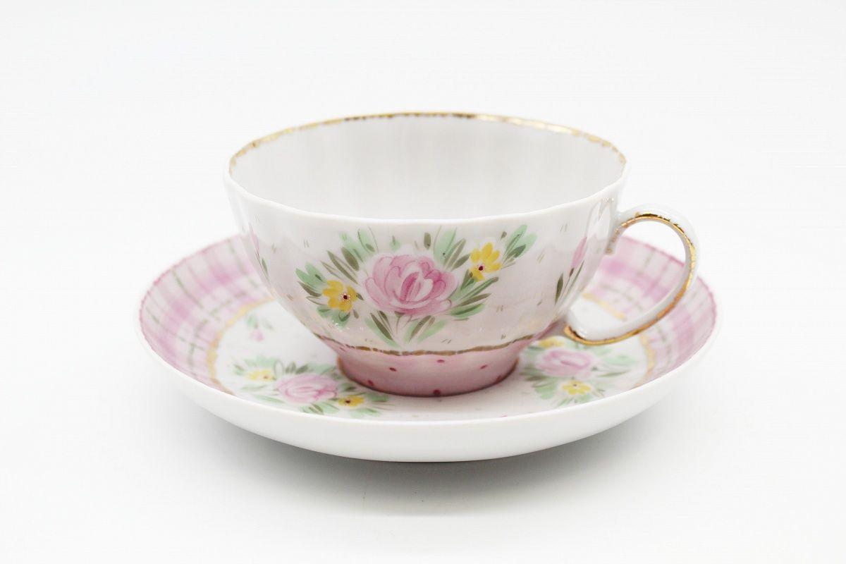 Dulevo porcelain / Tea cup and saucer set, 12 pcs., 275 ml White Swan Dachny, by Shapkina I.A.