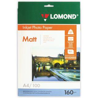 Photo paper inkjet, A4, 160g/m2, 100 sheets, one-sided matte, LOMOND