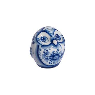 Sculpture Owl 1 grade, Gzhel Porcelain factory