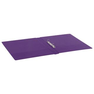 Folder on the 2 rings BRAUBERG, cardboard/PVC, 35 mm, purple, up to 180 sheets (double life)