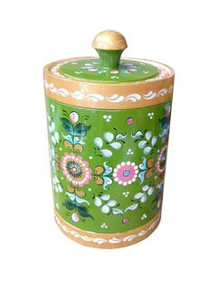 "Wooden barrel ""Shenkur green painting"" 20 cm"