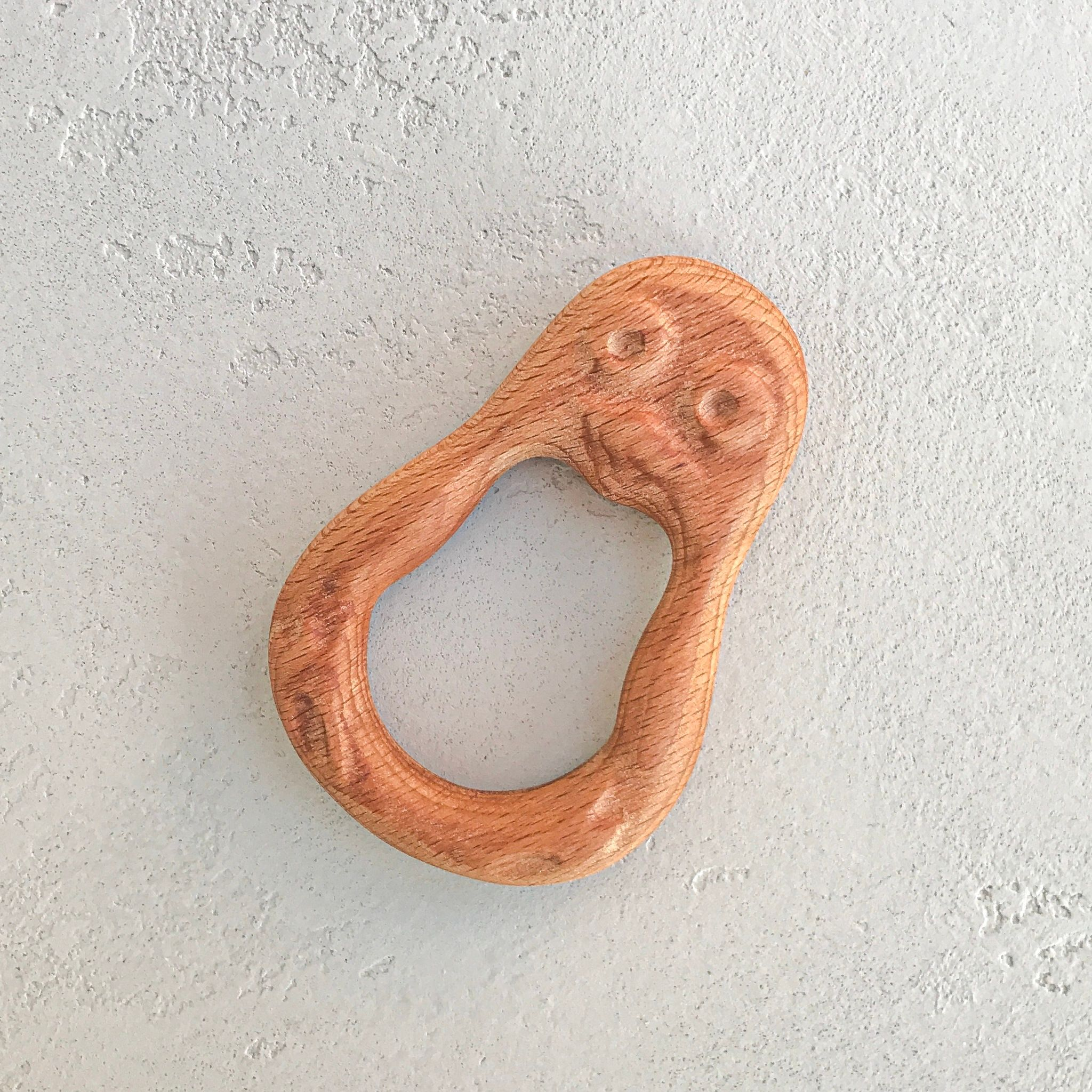 "Wooden rattle teething toy ""Penguin"""