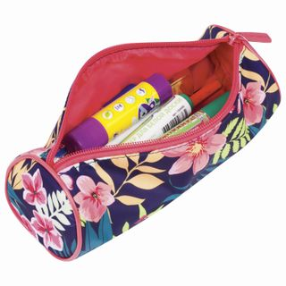 Pencil case-tube BRAUBERG, with the effect of Soft Touch, soft, Flower, 22х8 cm