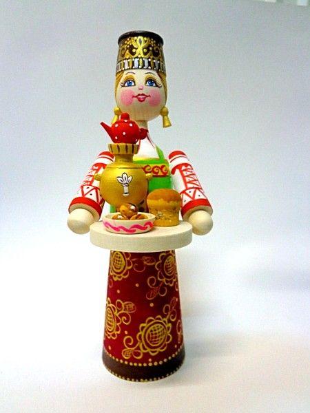 """Tver souvenirs / Composition """"Tea drinking"""" w / o"""