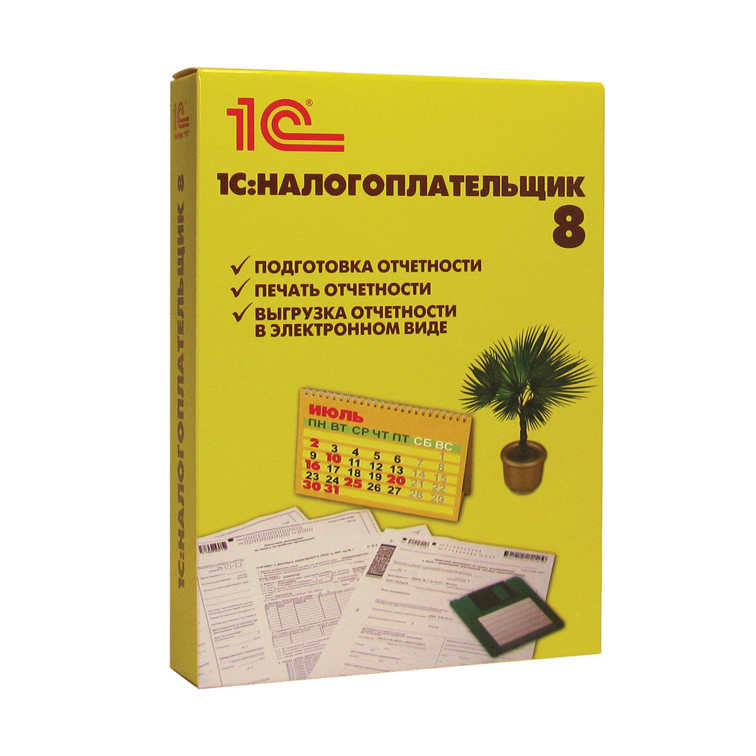 "1C / Software product ""1C: Taxpayer 8"", DVD box"