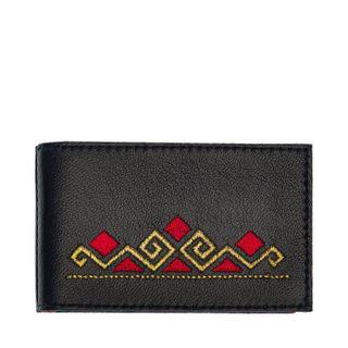 "Business card holder ""Geometry"" black"