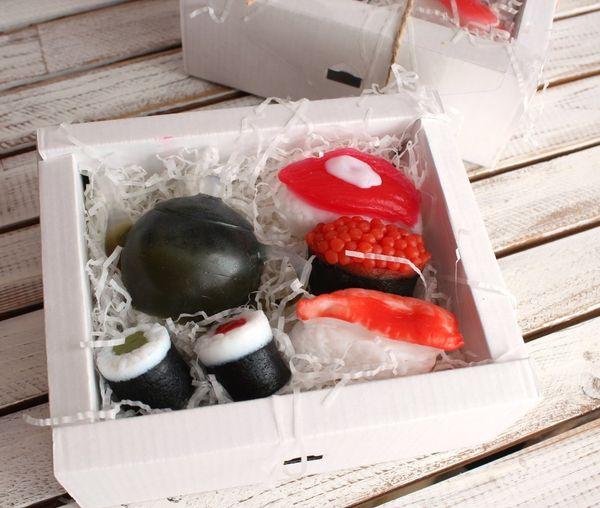 Gift set of handmade soap Sushi Maker