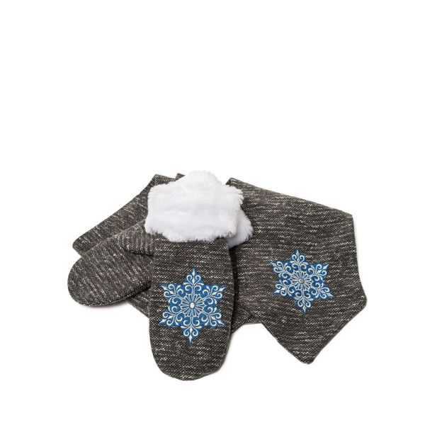 Set scarf and mittens 'Snowflake'