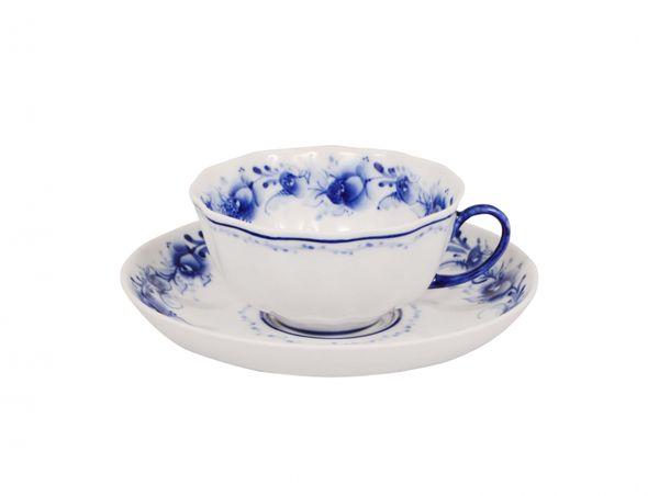 Dulevo porcelain / Set of tea cup with saucer, 12 pcs., 220 ml Tulip Tenderness