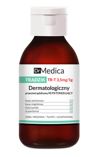 Dermatological anti acne tonic lotion for the face, neckline, back, DR MEDICA ACNE BIELENDA, 250ml
