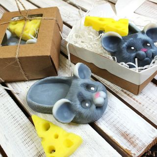 Handmade soap kit Home mouse