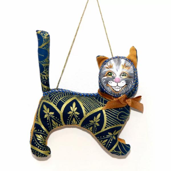 Matryoshka Factory / Christmas Tree Decoration Cheshire Cat, 12 cm