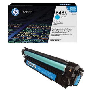 HP (CE261A) ColorLaserJet CP4025 / 4525 Cyan Original Toner Cartridge, Yield 11,000 pages