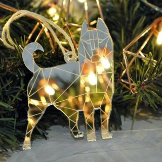 "Christmas toy mirror ""Siberian husky"""