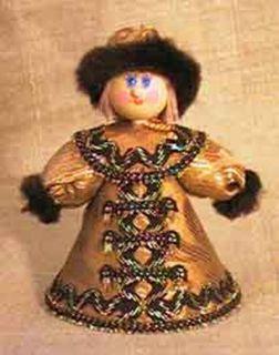 Doll-poteshka gift. Ivan. Wood, textiles.