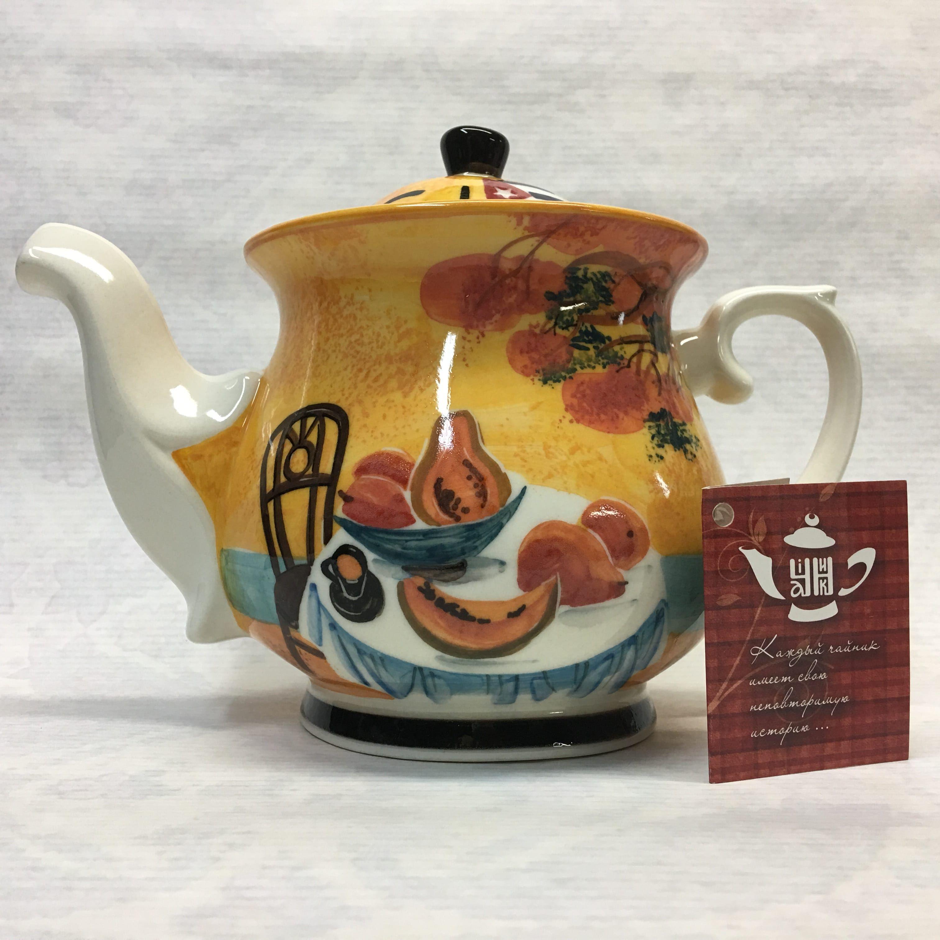 "Cheerful porcelain / Porcelain teapot ""Cuban motives"", author Ogorodnikova O."