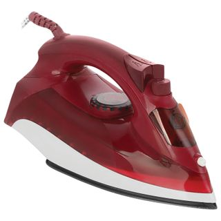 Iron ECON ECO-BI2403, 2400 watts, ceramic surface, auto, anticaps, self-cleaning, wine red