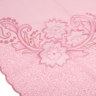 "Tippet ""Spring"" pink color with silk embroidery"