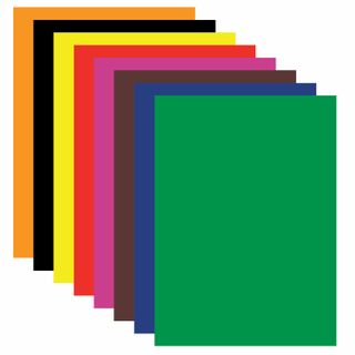 Colored paper A4, self-ADHESIVE, offset, 8 sheets in 8 colors, 80 g/m2, BRAUBERG