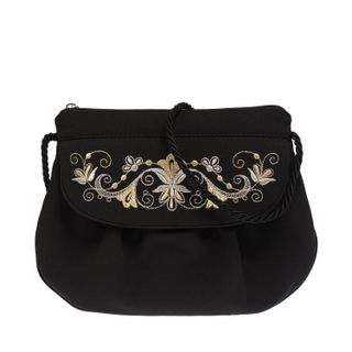"Crossbody bag handmade ""the Vine"", Torzhokskiy seamstresses, black"