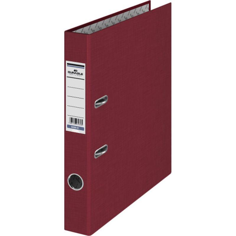 Durable / Folder, A4, 50 mm spine, bumvinyl Burgundy