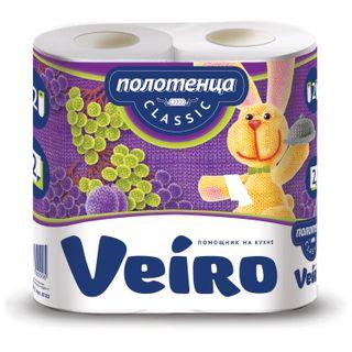 VEIRO / White 2-layer household paper towels 2x12.5 m, solder 2 pcs.