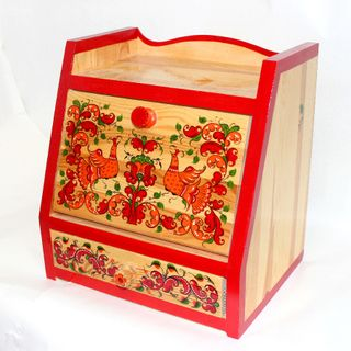 "Casket wooden ""Boretskaya painting"" 3 Department"