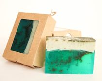 Lime and Mint bar 0.9 kg - handmade soap with the scent of lime, lavender and peppermint