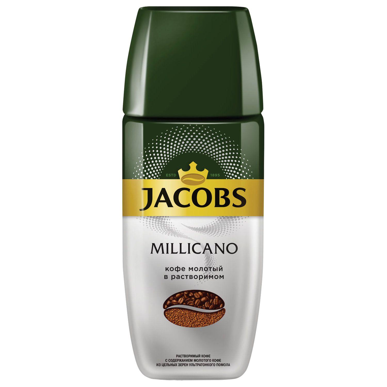 "JACOBS / Ground coffee in instant MONARCH ""Millicano"" freeze-dried, glass jar 95 g"