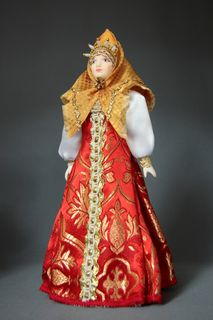 Coropceni in birthday suit. the town of Toropets, Russia. 19th century. Porcelain doll a gift.
