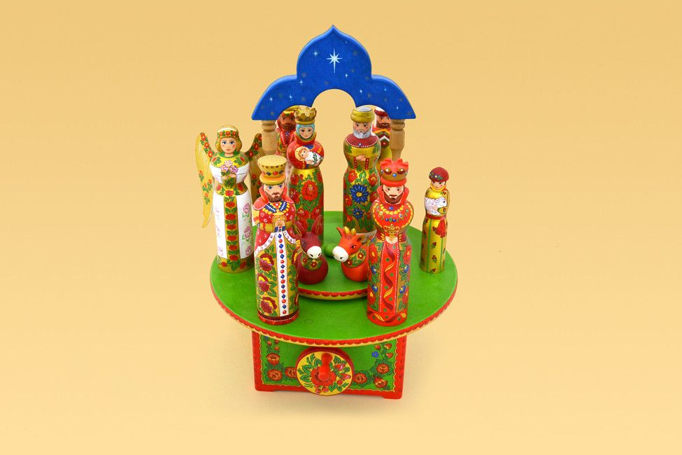 Carousel Christmas wooden toy