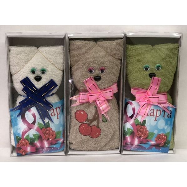 """Towel terry """"Cats"""" in gift package"""