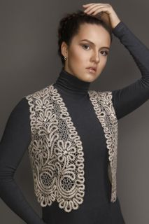 Womens vest lace pattern decorative branches