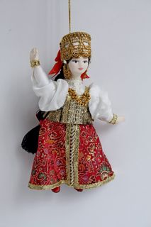 Alyonushka. Russian traditional costume. Suspension