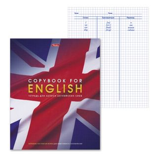 Dictionary notebook, 48 sheets, A5, HATBER, for writing English words,