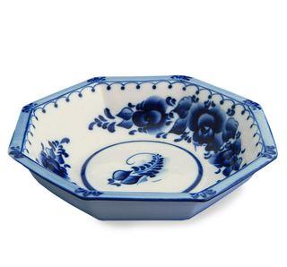 The European big bowl grade 2, Gzhel Porcelain factory