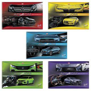 Sketchbook, A4, 24 sheets, spiral, cover cardboard, HATBER VK, 205х300 mm, Autoworld