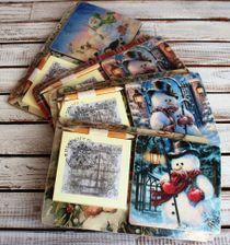 Souvenir fridge magnet with a notebook Snowmen mix Milotto art.004255