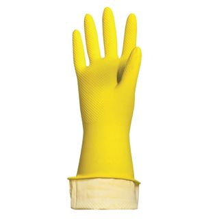 """LIMA / Latex household gloves """"Lux"""", REUSABLE, cotton dusting, dense, size L (large)"""